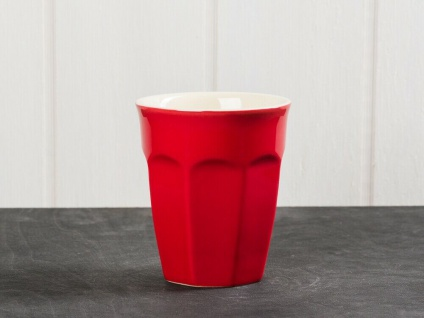 IB Laursen MYNTE Cafe Latte Becher Rot Keramik Geschirr STRABERRY Tasse 250 ml