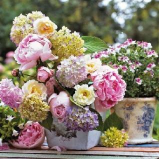 Ambiente Servietten PEONY ARRANGMENT bunte Sommerblumen Blumenstrauß Blumen 20 S