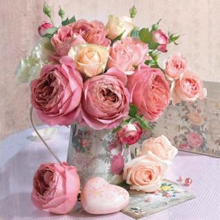 Ambiente Servietten ROSES IN POT 20 Stück Blumen Rosen. 3-lagig. 33 x 33