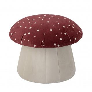 Bloomingville Pouf LUE Fliegenpilz Rot Weiss 30x37 cm Sitzhocker Stuhl Hocker