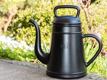 Gießkanne LUNGO schwarz 12 Liter Kunststoff XALA Design Kaffekanne Kaffepott