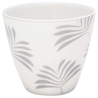 Greengate Latte Cup MAXIME Weiss Grau Kaffeebecher Porzellan 300 ml