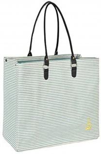 Pad Tasche ANKER Aqua Türkis Streifen Shopper 52x40 Einkaufstasche Strandtasche