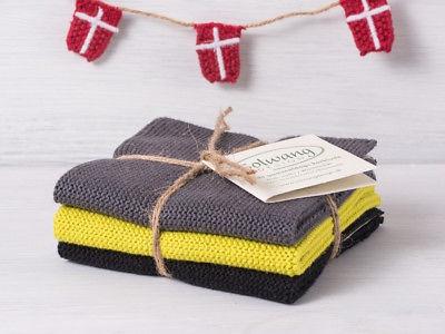 Solwang Küchentuch DUNKELROT gestrickt Putztuch Geschirrtuch Handtuch Gästetuch