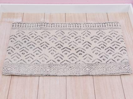 A Simple Mess Tischset MILLE Beige Muster Grau Baumwolle Design Platzset 30x45