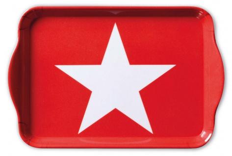 Ambiente Tablett STAR RED Melamin Serviertablett STERN ROT 13x21 Untersetzer