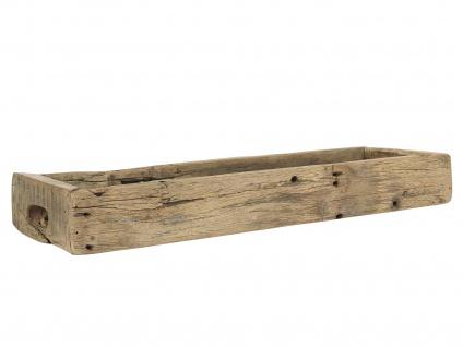 IB Laursen Holzkiste Länglich mit Griffen UNIKA 60 cm Kiste Aufbewahrungskiste