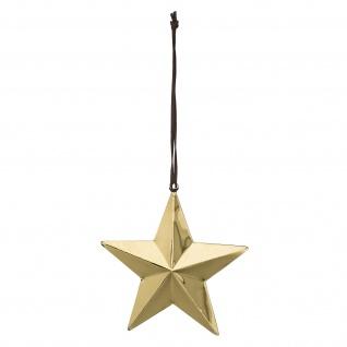 Bloomingville Deko Stern Hänger gold 19 cm Weihnachtsdeko Weihnachten