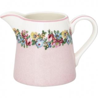 Greengate Milchkännchen MADISON Weiß Rosa Porzellan Geschirr Blumen 200 ml