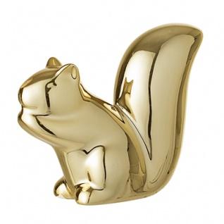 Bloomingville Deko Eichhörnchen Gold Porzellan Figur 8 cm Tisch Deko Weihnachten
