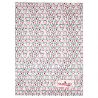Greengate Geschirrtuch LEAH Pale Pink Rosa mit Blumen Baumwolle 50x70 Küchentuch