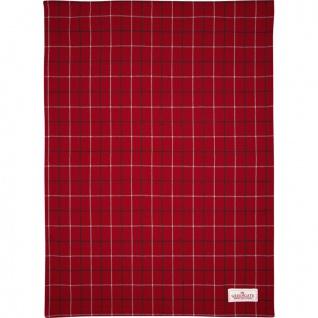 Greengate Geschirrtuch LYLA Rot mit Karo Muster Baumwolle 50x70 Küchentuch