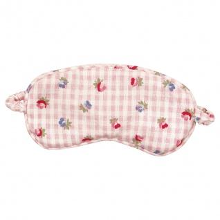 Greengate Schlafmaske VIOLA Rosa Weiß Blumen Schlafbrille Augenmaske