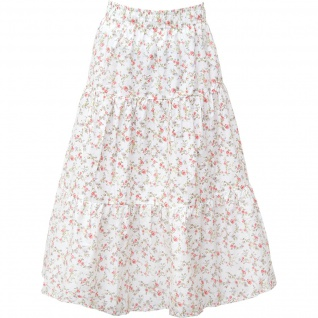 Greengate Rock CARLY Weiß Blumen Medium-Large Damenrock Baumwolle Größe M-L
