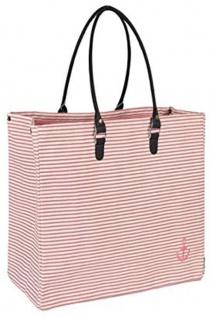 Pad Tasche ANKER Rosa Pink Streifen Shopper 52x40 Einkaufstasche Strandtasche