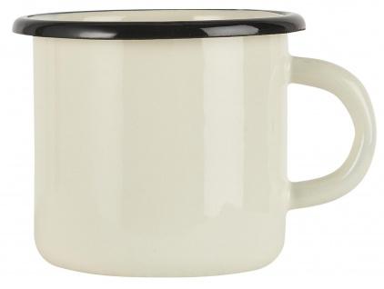 IB Laursen Becher Emaille Creme Weiß Tasse 400 ml Kaffeebecher