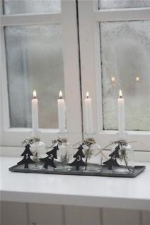 IB Laursen Tablett ADVENT mit Kerzen. 13-tlg Weihnachtsdeko Adventsgesteck Deko