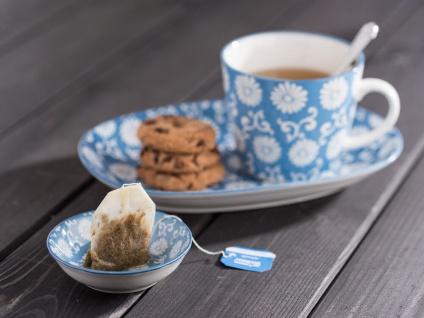 IB Laursen Becher LIVA staubig blau weiß Blumen Muster Tasse mit Henkel - Vorschau 2