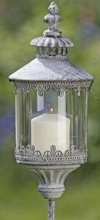 Metall Laterne DOVER Windlicht Stab Gartenstecker Gartenstab Vintage 129 cm