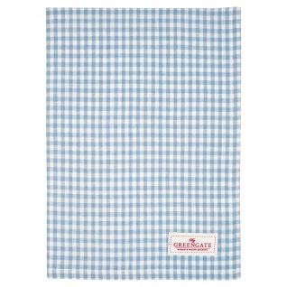 Greengate Geschirrtuch VIVI Blau Weiß Karo Baumwolle 50x70 Küchentuch Pale Blue