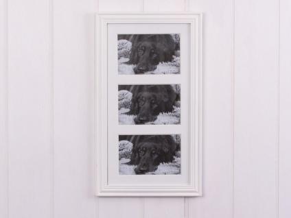 Bilderrahmen LINDA weiß für 3 Fotos im Format 10x15 cm