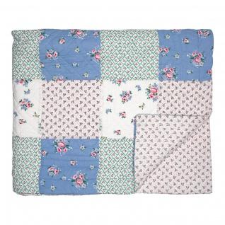 Greengate Quilt NICOLINE Patchwork 140x220 Tagesdecke Baumwolle Decke Überwurf