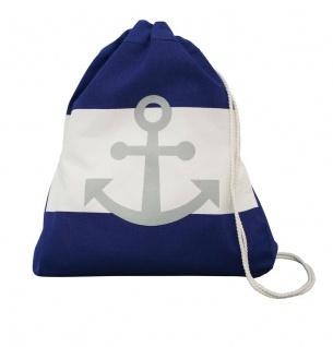 Krasilnikoff Rucksack Anker dunkelblau weiß blau Streifen maritim Tasche Baumwol