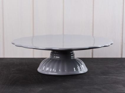 IB Laursen MYNTE Tortenplatte Grau Keramik Kuchenplatte FRENCH GREY Geschirr