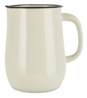 IB Laursen Kanne Emaille Creme Weiß Krug 2.5 Liter Karaffe 2500 ml