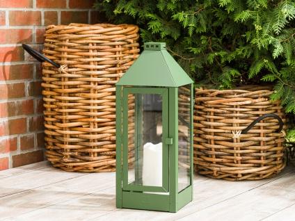 A2 Living Allwetter Laterne Metall Maxi Grün rostfrei 60 cm Gartenlaterne