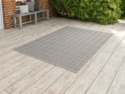 PAD Outdoor Teppich HARRY Grau 170x240 Fussmatte XL Matte Pad Concept Badematte