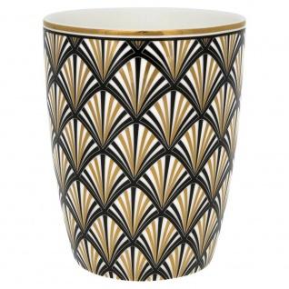 Greengate Latte Cup Celine schwarz gold Gate Noir Becher