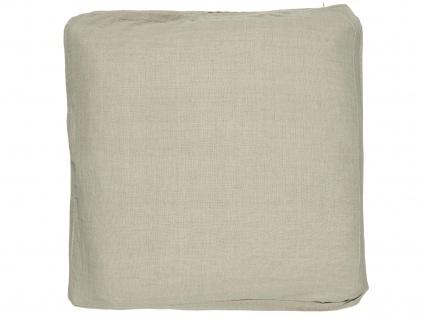 IB Laursen Sitzkissen Natur Kissenhülle 45cm Kissenbezug Baumwolle Beige