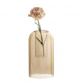 Bloomingville Vase DOM Glas Gold Braun Rund 23 cm hoch Blumenvase Vintage Deko