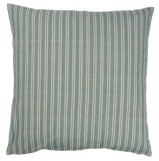 IB Laursen Kissenbezug 60x60 Streifen grün/creme weiß schmal Baumwolle Kissen