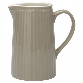 Greengate Krug ALICE Grau Kanne 1 Liter Everyday Geschirr Karaffe WARM GREY