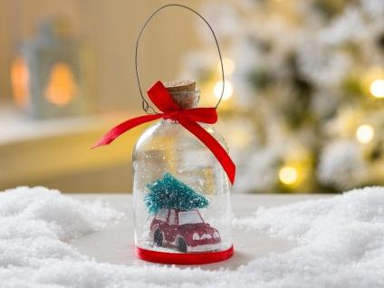Weihnachtsbaum Hänger Schneekugel Auto Baum rot Weihnachtsdeko Tannenbaumschmuck
