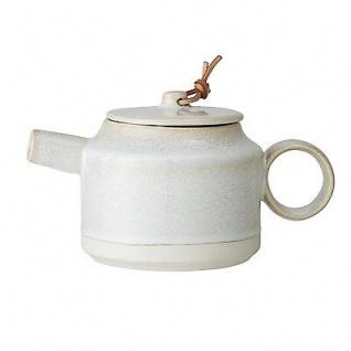 Bloomingville Teekanne Carrie 550 ml Krug Kanne Keramik creme beige