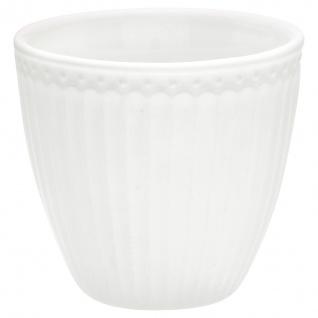 Greengate Latte Cup Becher ALICE Weiß 300ml Kaffeebecher Everyday Geschirr Serie