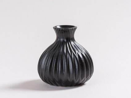 Vase LINA schwarz Keramik Blumenvase 12cm Deko Geschenk Tischdeko Design Klassik - Vorschau 2