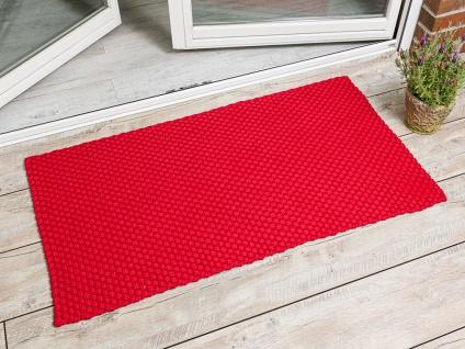 PAD Outdoor Teppich UNI ROT 72x132 Matte Fussmatte Pad Concept Design Badematte
