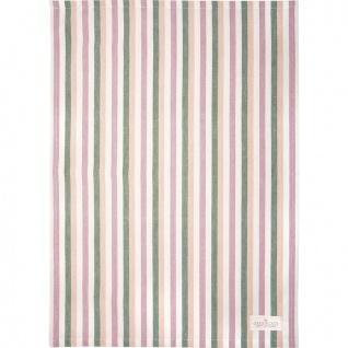 Greengate Geschirrtuch CALLIE DUSTY ROSE Streifen Baumwolle 50x70 Küchentuch