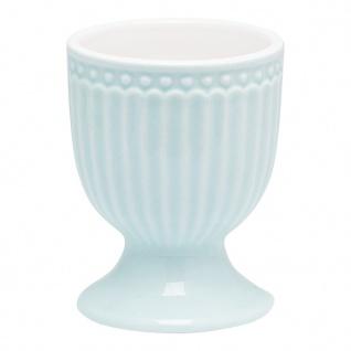 Greengate Eierbecher ALICE Blau 6.5 cm Keramik Everyday Geschirr PALE BLUE