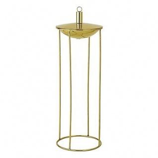 Bloomingville Windlicht Ollampe Rund Gold Laterne Garten Deko