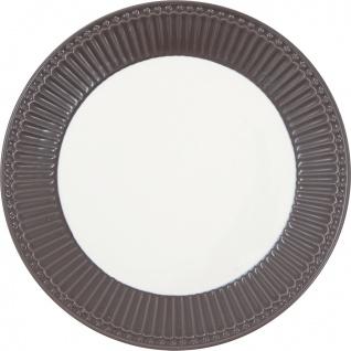 Greengate Teller ALICE Braun 23 cm Kuchenteller Everyday Geschirr DARK CHOCOLATE