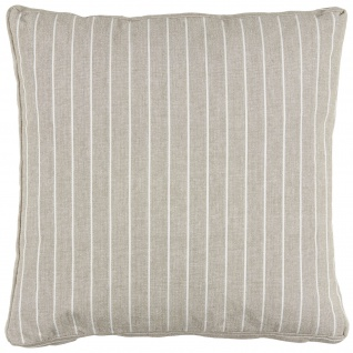 IB Laursen Sitzkissen Taupe mit Streifen Kissenhülle 45x45x5 Kissenbezug Sand