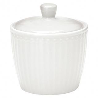 Greengate Zuckerdose ALICE Weiß Zuckertopf Everyday Geschirr WHITE Dose 9x10 cm