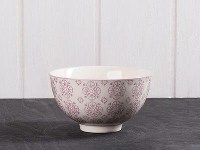 IB Laursen Schale Casablanca lila weiß Blumen Geschirr Keramik Schüssel