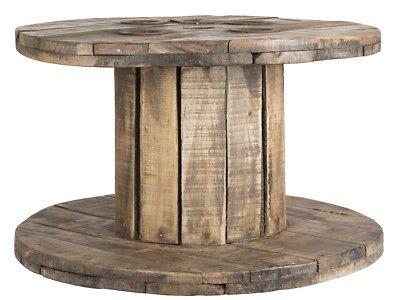 IB Laursen Tisch Kabeltrommel Unika Holz rund Unikat Beistelltisch 65 cm