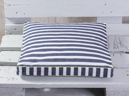 Pad Sitzkissen CHETTO Streifen Kissen blau weiß gestreift Kissenhülle Pad Concep